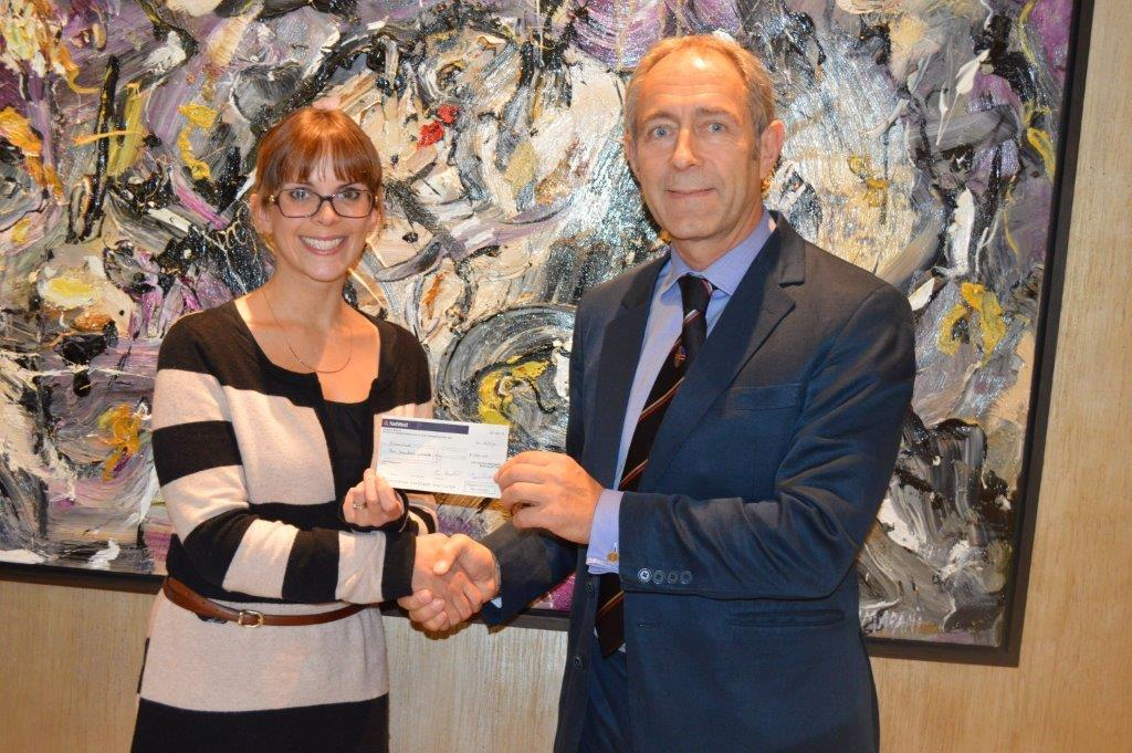 Masonic lodge donates to brain tumour charity
