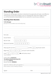 brainstrust standing order small