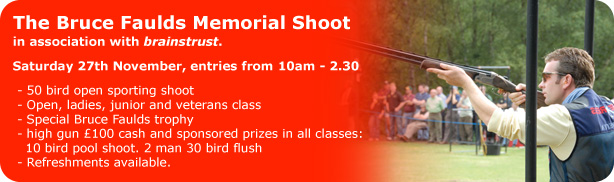 Bruce Faulds Memorial Charity Shoot Banner